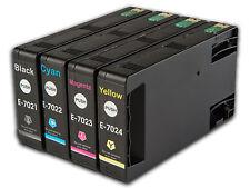 T702 4 non-oem cartouches d'encre pour Epson WorkForce Pro WP-4525DNF WP-4535DWF