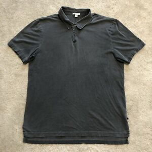 James Perse Standard Made In USA Basic Polo Button Up Shirt 3 Large