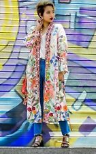 H&M Trend Pink Floral Patterned Long Belted Kimono M 12 14 16 BNWT bloggers