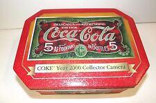 COCA-COLA _COKE YEAR 2000 COLLECTOR CAMERA TIN  _ RED COCA COLA TIN ONLY