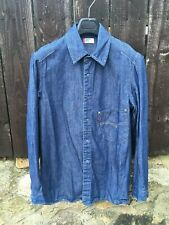 Vintage 1990s Levis Engineered Jeans Denim Shirt Medium 90s LVC strauss