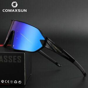 COMAXSUN Polarized Cycling Glasses Bike Goggles Driving Fishing Sunglasses 5 Len