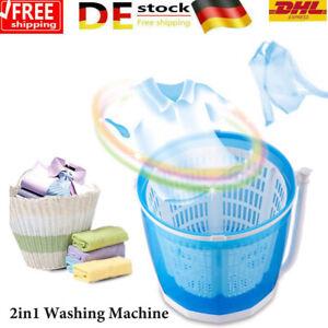 Mobile Mini Camping Reise Hand Waschmaschine Wäsche Trockner 2kg