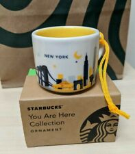 Starbucks New York  You Are Here Collection ORNAMENT Demi Mug 2 fl oz RARE