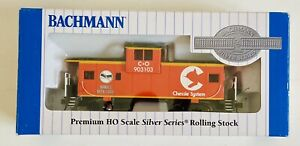 Bachmann Silver Series HO 36' Wide Vision Caboose Chessmen. Item 17626 NEW
