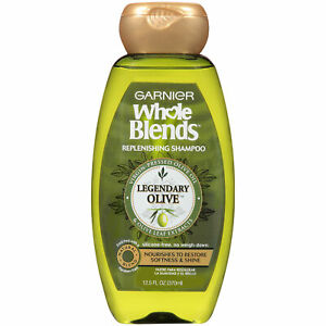 Garnier Whole Blends Replenishing Shampoo Legendary Olive For Dry Hair 12.5 oz