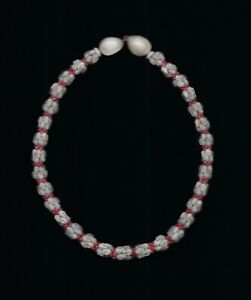 HAWAIIAN 100% NIIHAU SHELL 20 INCH KIPONA CROWNFLOWER  LEI