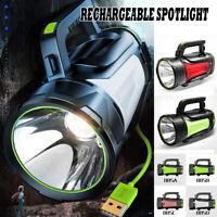 10000MAh 500W 3500LM Imperméable Rechargeable Projecteur Lampe Travail Torche !