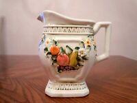 Vintage LEFTON Ceramic FRUIT FANTASIA Pattern 6726 Pitcher Made in JAPAN
