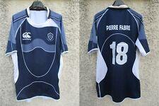 Maillot rugby CASTRES OLYMPIQUE porté n°18 CANTERBURY bleu marine worn shirt XXL