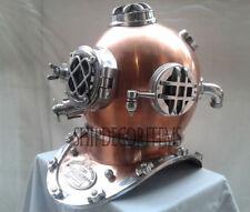 Copper Antique Divers Diving Helmet US Navy Mark V Boston DECORATIVE Marine Gift