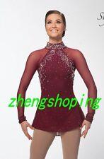 Wonmen'Competition Baton Twirling Burgendy Costume Crystals 8946