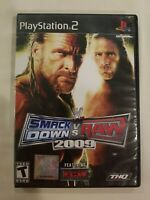 WWE SMACKDOWN VS. RAW 2009 game complete TESTED WRESTLING Playstation 2 PS2