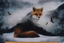 "27.75"" X 44"" Panel Fox Call of the Wild Nature Digital Cotton Fabric D586.43"