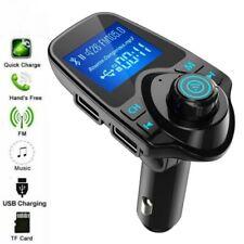 Wireless Bluetooth Car Kit FM Transmitter MP3 USB LCD Handsfree Phone Call UK