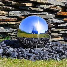 Edelstahlkugel 30cm poliert für Springbrunnen mit LED Beleuchtung Brunnenkugel