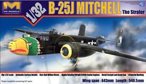 HK Models 1/32 Scale B-25J Mitchell The Strafer - kit#01E02