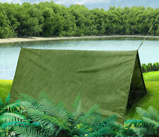Outdoor Camping Hiking Hammock Sunshade Tent Rainfly Tarp with Sack Hook Rope