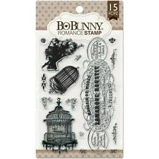 New BO BUNNY RUBBER STAMP clear cling set ROMANCE SET BIRD CAGE FREE US SHIP