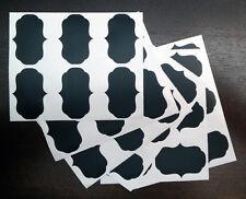 40 Blackboard Chalkboard Chalk Board Labels Stickers Wedding Kitchen Jars Fancy2