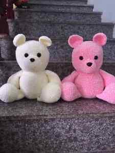 Toy Handmade wool animals Misa Bear Baby Toy Handmade Vietnam