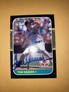 Tom Seaver Boston Red Sox auto signed autographed Card all star