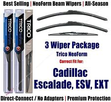 3-Pack Wipers Front/Rear NeoForm 2002+ Cadillac Escalade, ESV, EXT 16220x2/30160