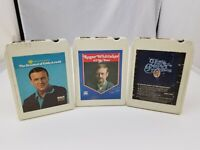 Country Music 8 Track Tapes Set of 3 Roger Whittaker, Jim Reeves, Eddy Arnold