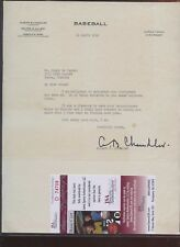 1946 Albert Chandler Signed Baseball Letter JSA Cert