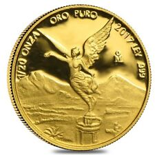 2017 1/20 oz Mexican Gold Libertad Coin .999 Fine Proof (In Cap)