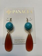 Panacea Blue Turquoise & Howlite Artisan Ball Drop Earrings