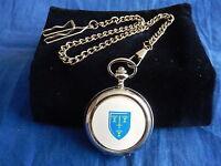 CHESHIRE FIRE AND RESCUE SERVICE CHROME POCKET WATCH WITH CHAIN (NEW)