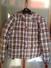 DIESEL MENS $450 REVERSIBLE LIGHT BROWN / PLAD BOMBER JACKET SIZE S NWTAG CHINA