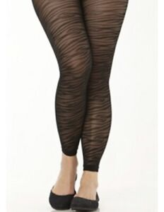 NEW The Avenue Body Discontinued Animal Print Footless Tights Pantyhose A/B E