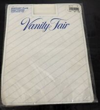 New - Vintage Vanity Fair Pantyhose Support Plus Style 1492 White - Size Medium