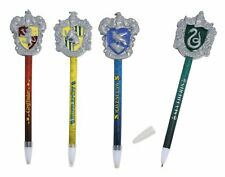 [4-Pack] Harry Potter Hogwarts House Crest Molded Topper Pen Set