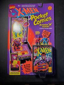 1994 New X-Men Pocket Comics Asteroid M Playset Beast Magneto Mini Figures SOC