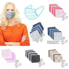7Pcs Protection DIY Face Muflle Cloth with 6m Elastic Rope 10 Nose Bridge Clip