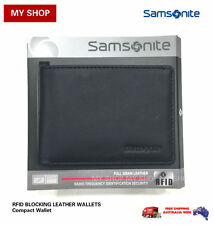 Samsonite RFID Blocking Leather Compact Wallet 67T010 RRP$55.00 BLACK
