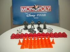 Disney Pixar Monopoly Replacement & Collectible Pewter Tokens Lot 6 Dice & Parts