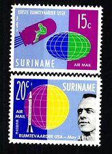 SURINAME - 1961 - In onore dei primi comonauti Y. Gagarin e Alan B. Shepard