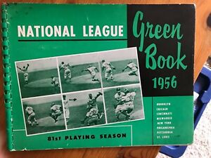 Original 1956 National League Green Book,VG/ EX Condition, Free US Shipping