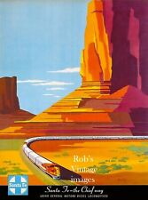 Santa Fe Railroad Super Chief Train Railroad Travel Poster