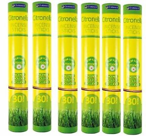 180 Citronella Incense Sticks Chatsworth Garden Outdoor Insect Fly Repellent