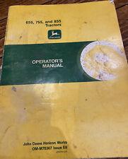 John Deere Operators Manual And Discs. Om-70367 For 655,755 And 855.