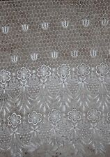 """1 yard Cream Ivory Venise Guipure victorian lace scalloped trim 19"""" extra wide g"""