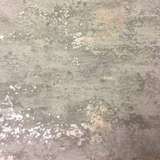 Grandeco Orion Concrete Industrial Stone Distressed Metallic Grey Wallpaper