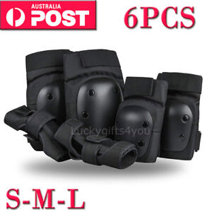 Skate Protection 6pc/set- Knee Pads Wrist Brace Guards Elbow Pads Skating