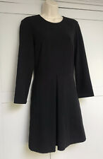 & Other Stories Black Smart Long Sleeve Dress Drop Waist Us 8 Uk10 Work Office