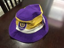 MENS/WOMENS ORLANDO CITY SC Bucket Cap Adidas Hat MLS PURPLE/GOLD SMALL S  NWT